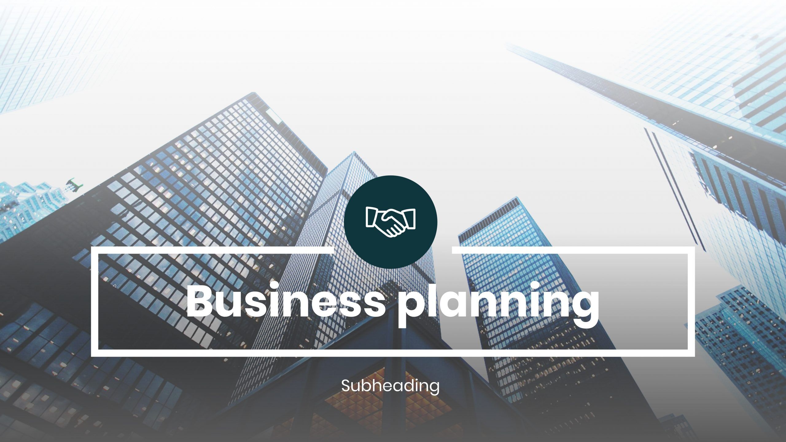 Download Free presentation template of business plan