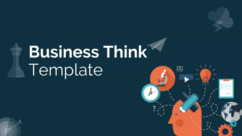Free presentation template of Business thinking
