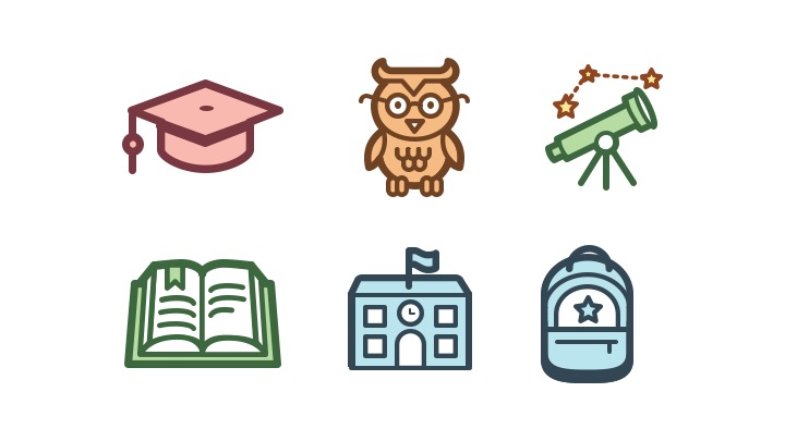 Download Free Icon Pack for education