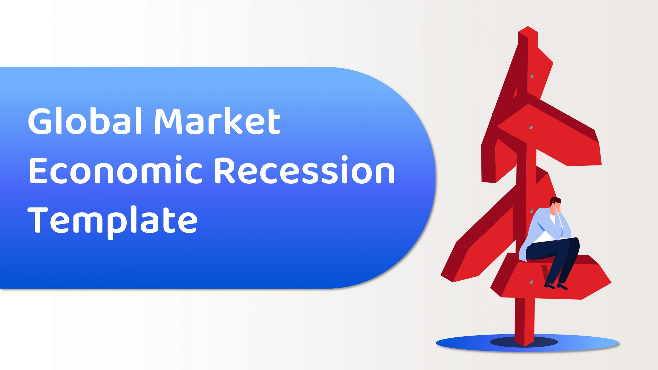 Free Global Market Economic Recession Template