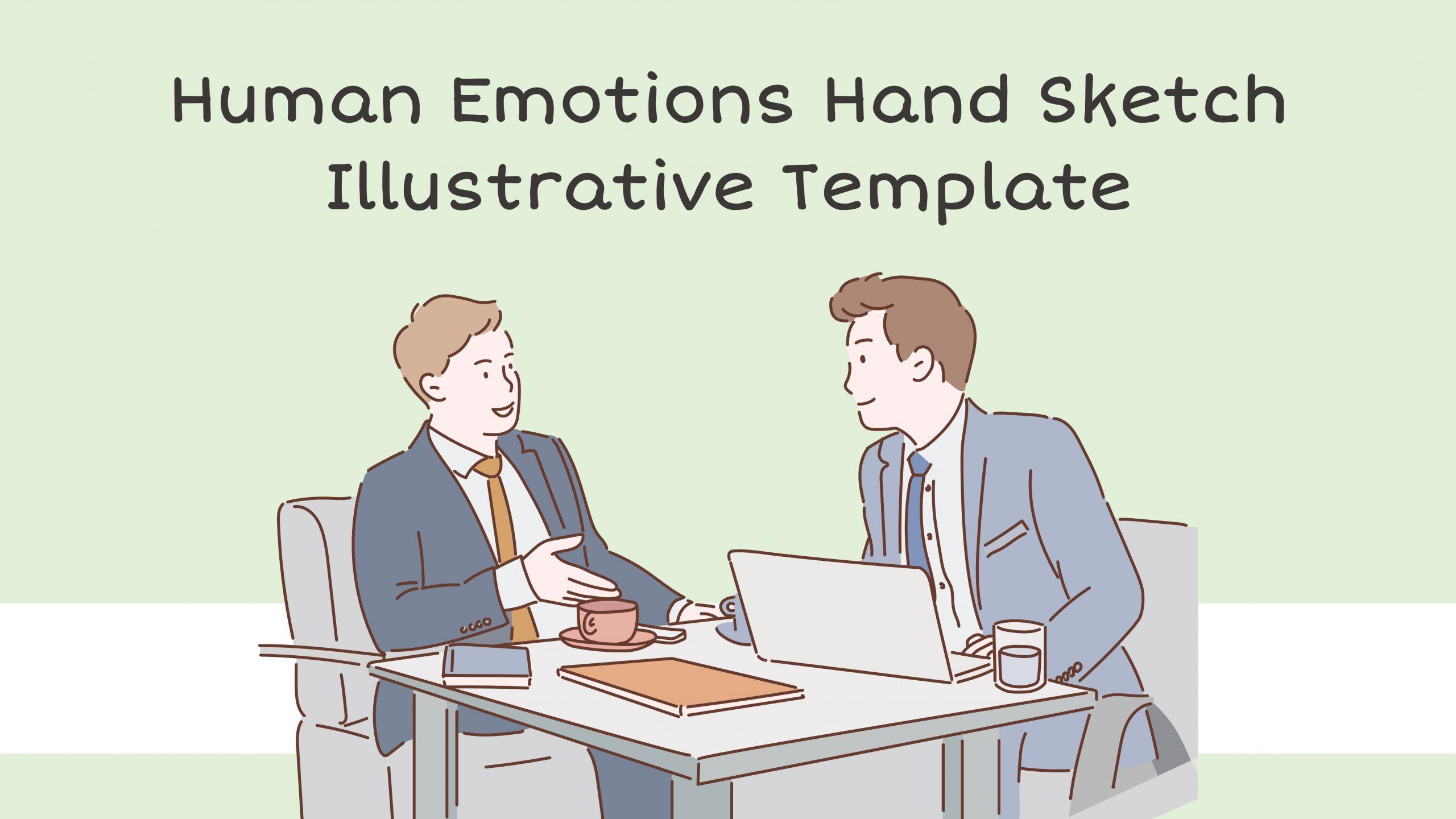 Free Human Emotions Handsketch Illustrative Template