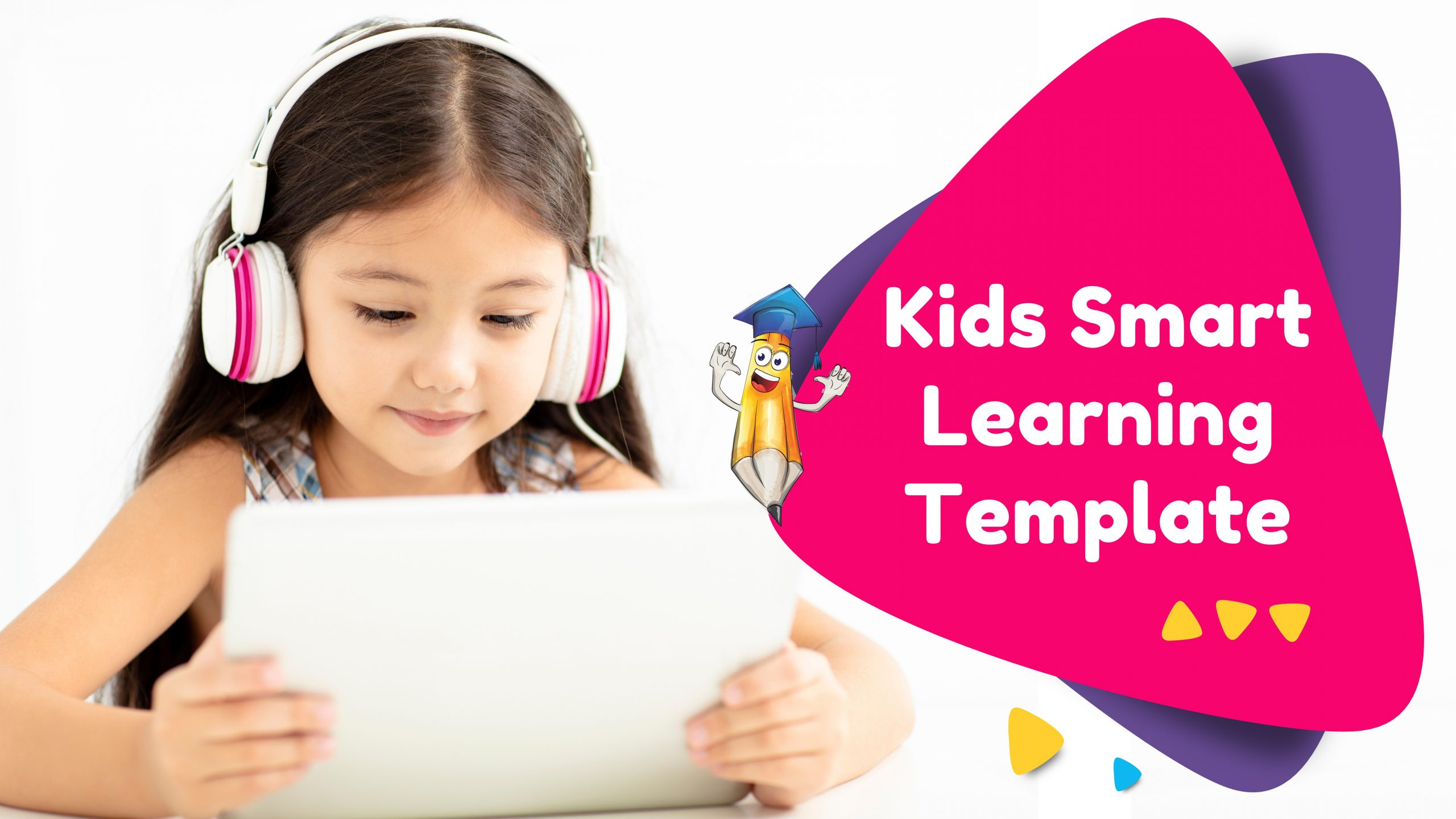 Free presentation template of Kids Smart Learning