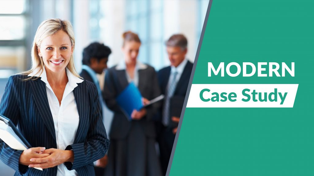 Free presentation template of Modern Case Study