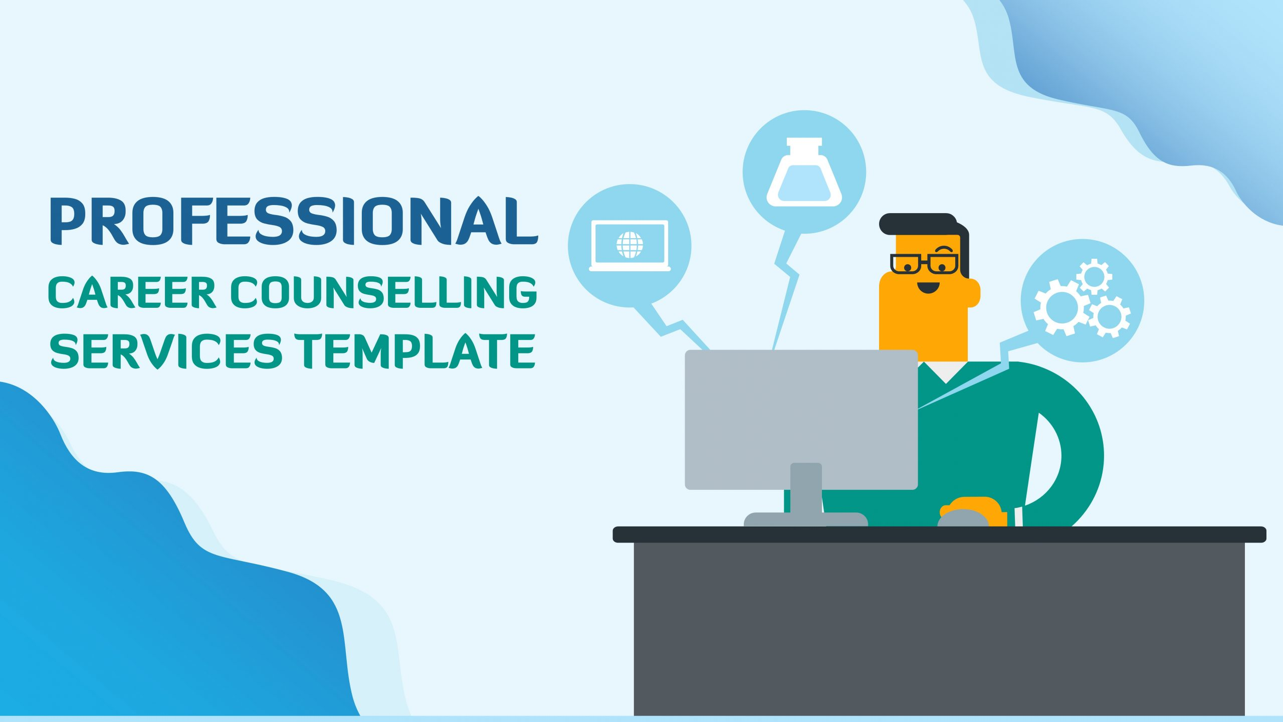 Free presentation template of Professional Career Counselling Services