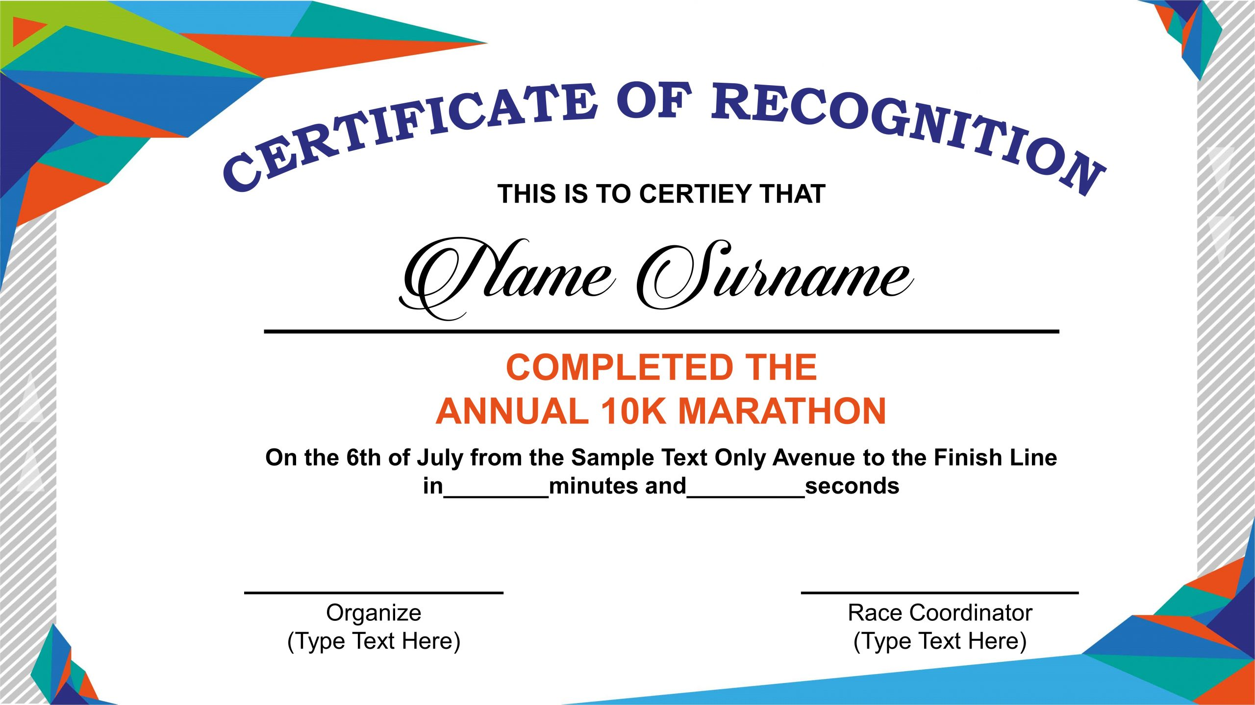 Free Recognition Pack & Certificate Template - PPT & Google Slides With Regard To Powerpoint Certificate Templates Free Download