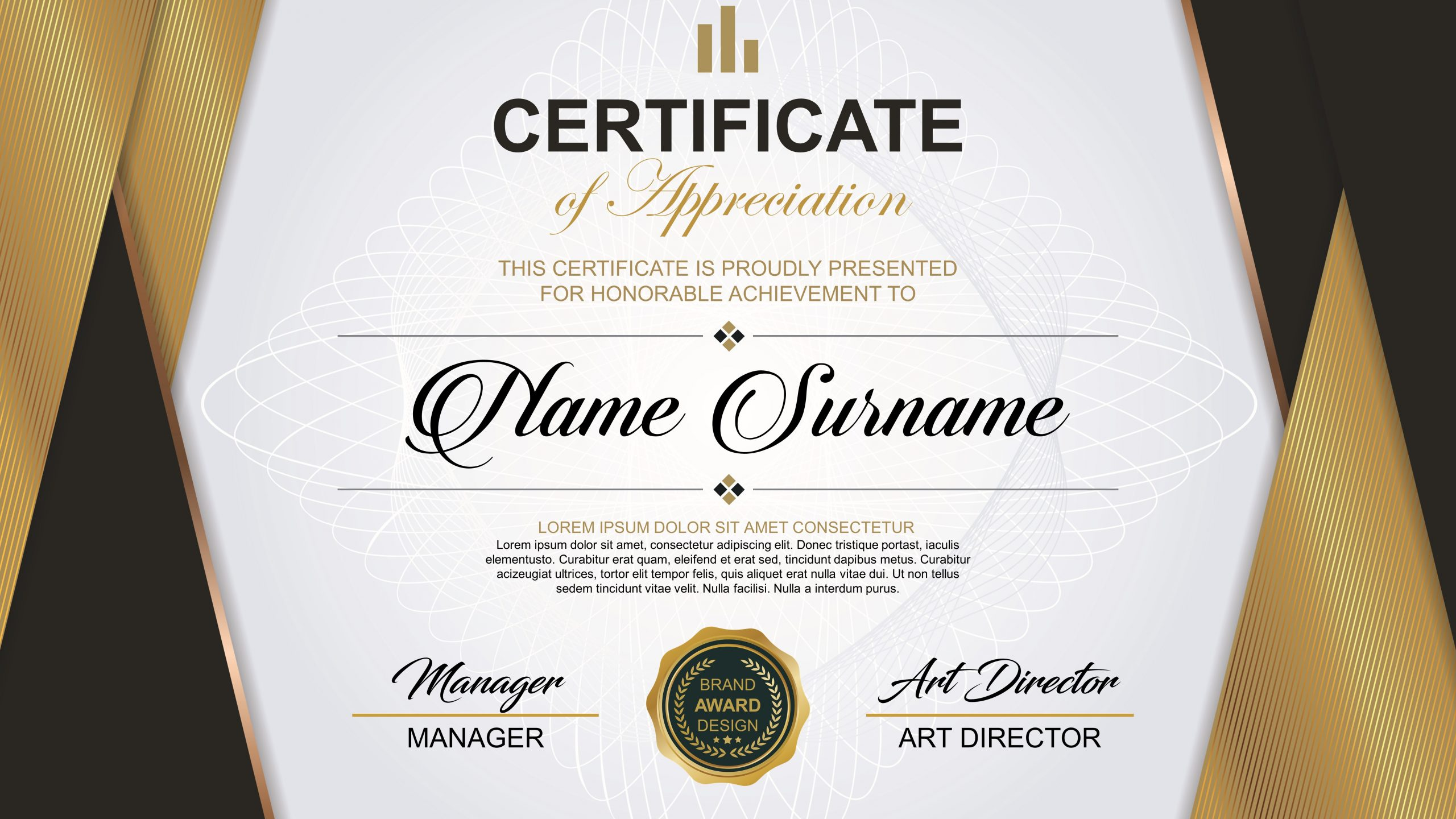 Recognition Pack & Certificate Template  Discover Template Inside Free Template For Certificate Of Recognition