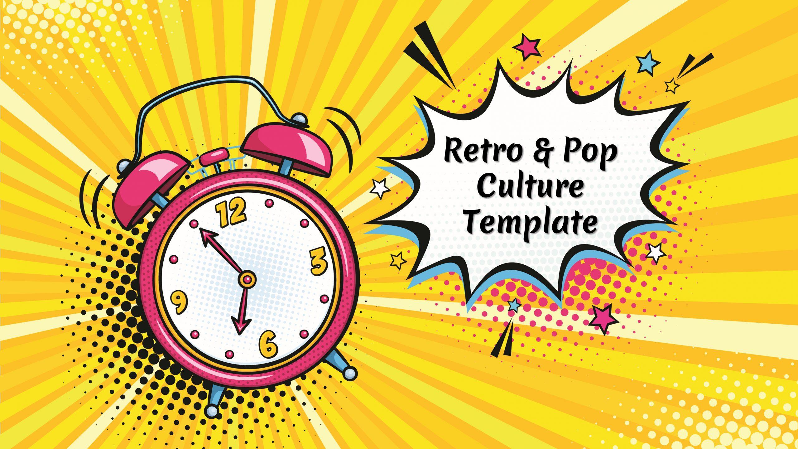 Free presentation template of Retro and Pop
