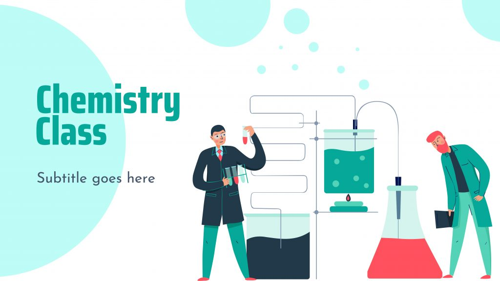 Free presentation template of Chemistry Class