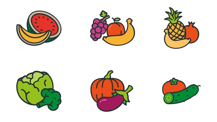 Download Free Icon Pack for Fruit and vegetable