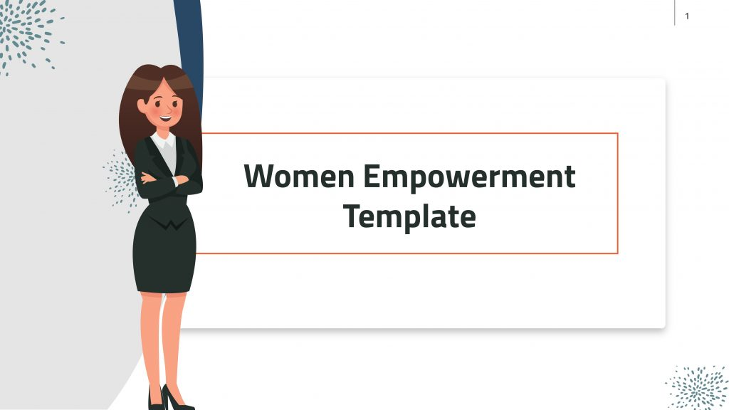 Free presentation template of Women Empowerment