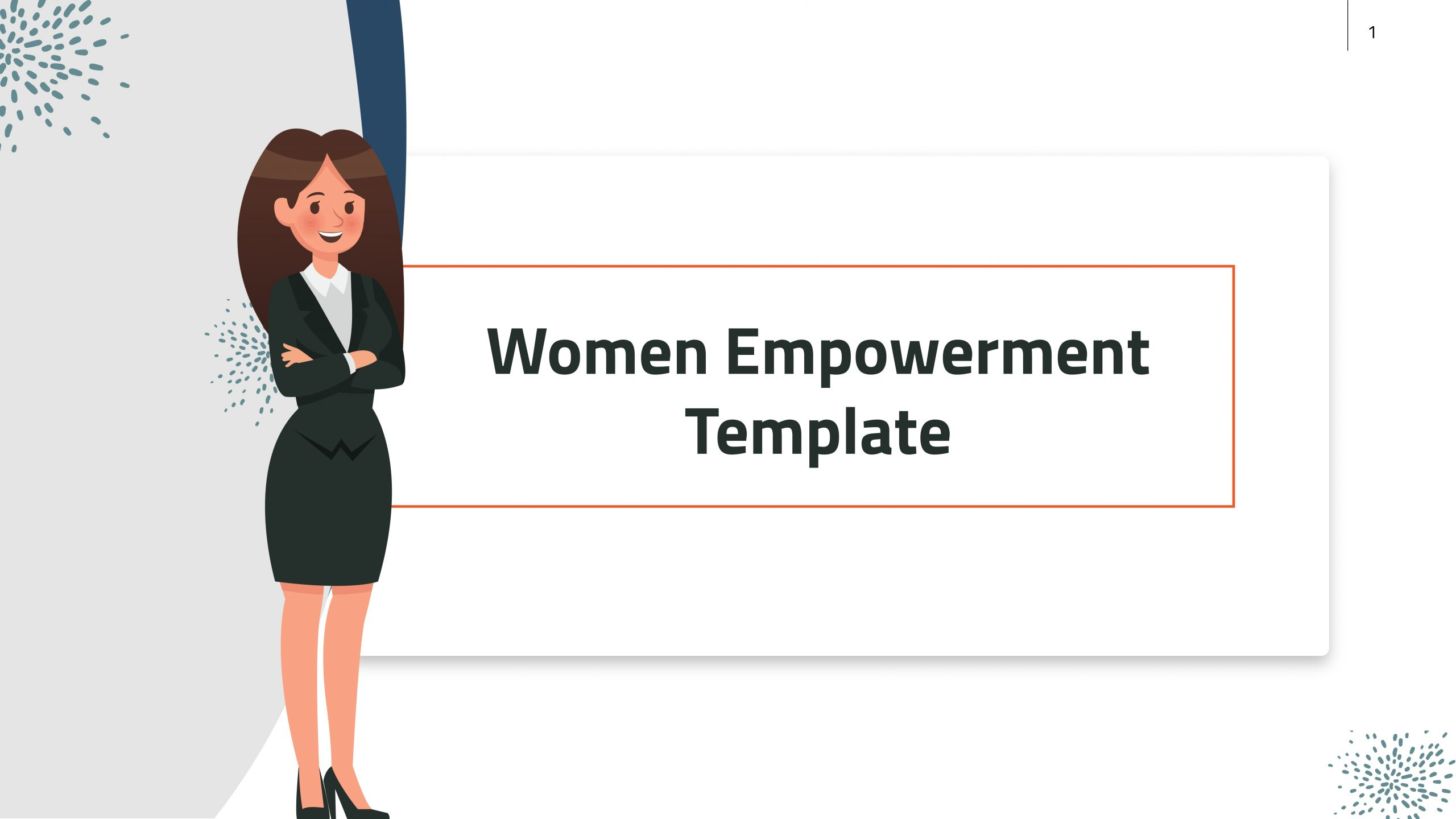 Free presentation template of Women Empowerment