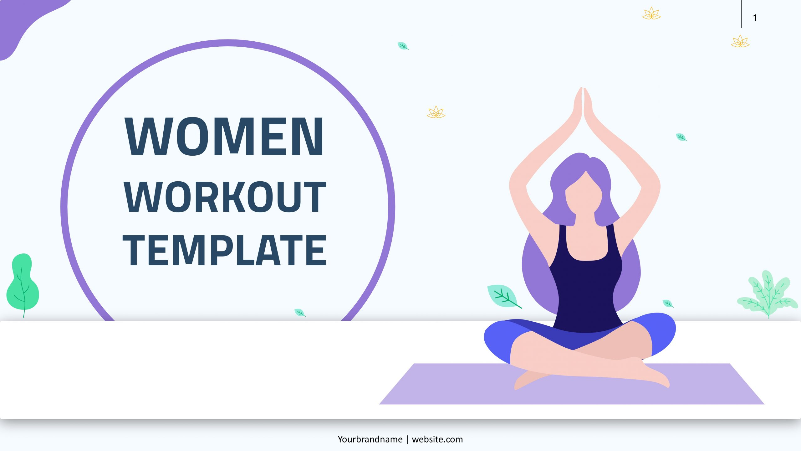 Free presentation template of Women Workout