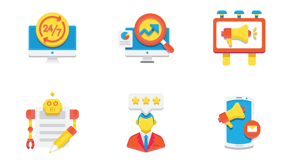 Digital Marketing icon pack