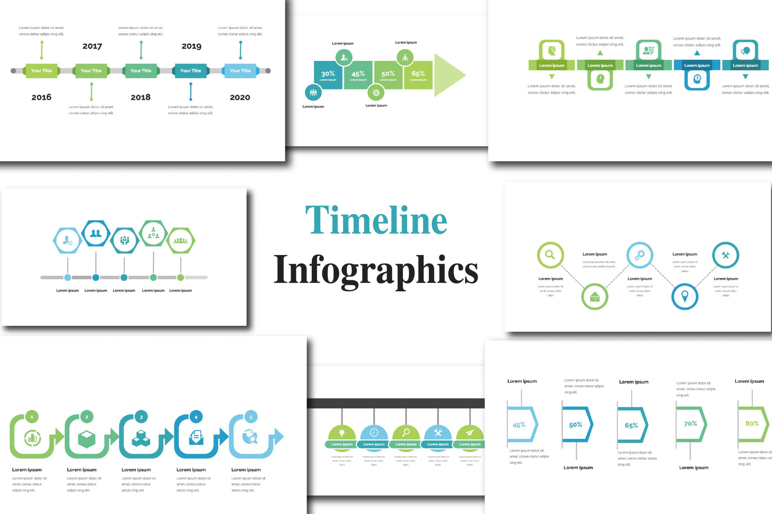 Free template of Timeline Infographic
