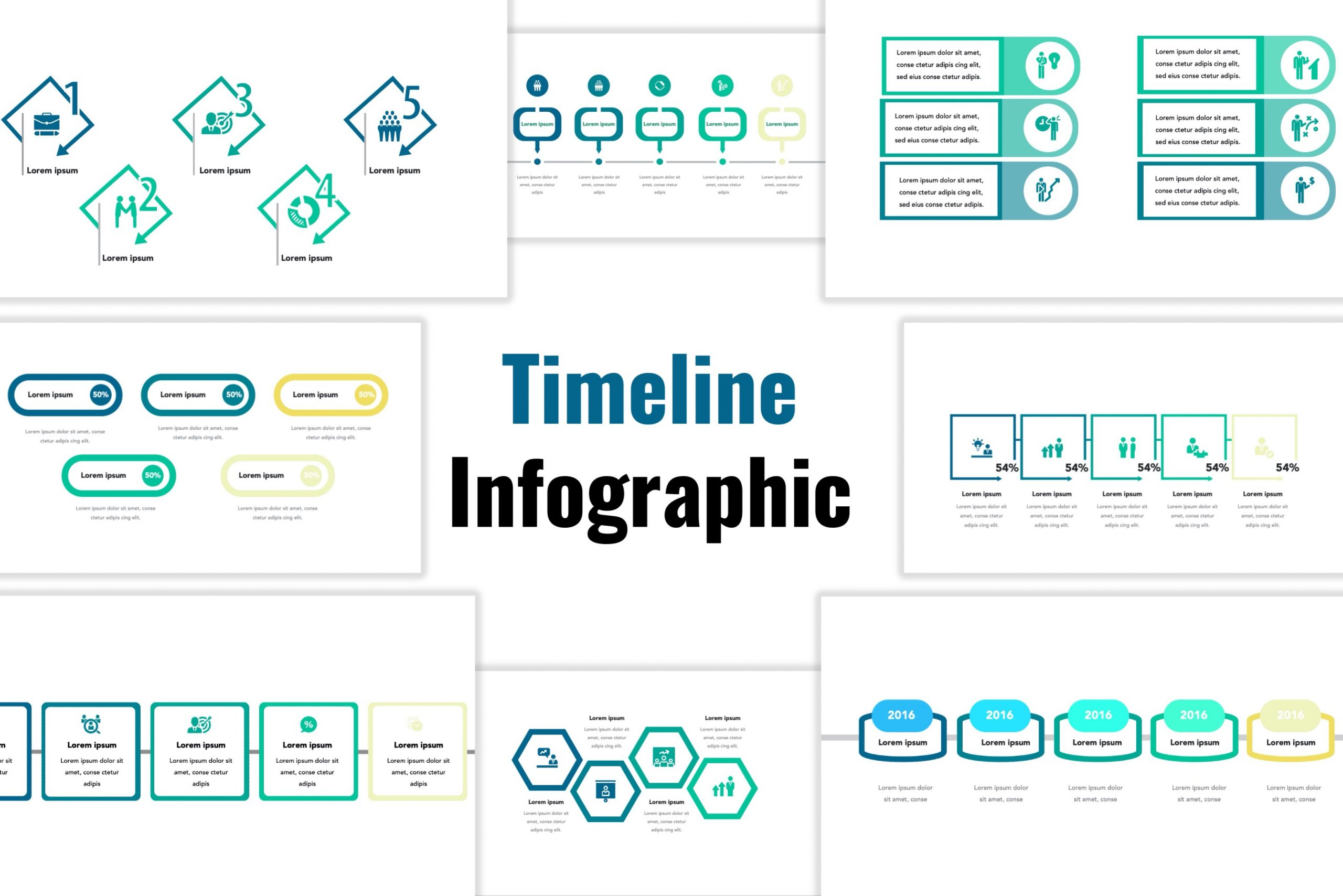 Free infographic template of Timeline