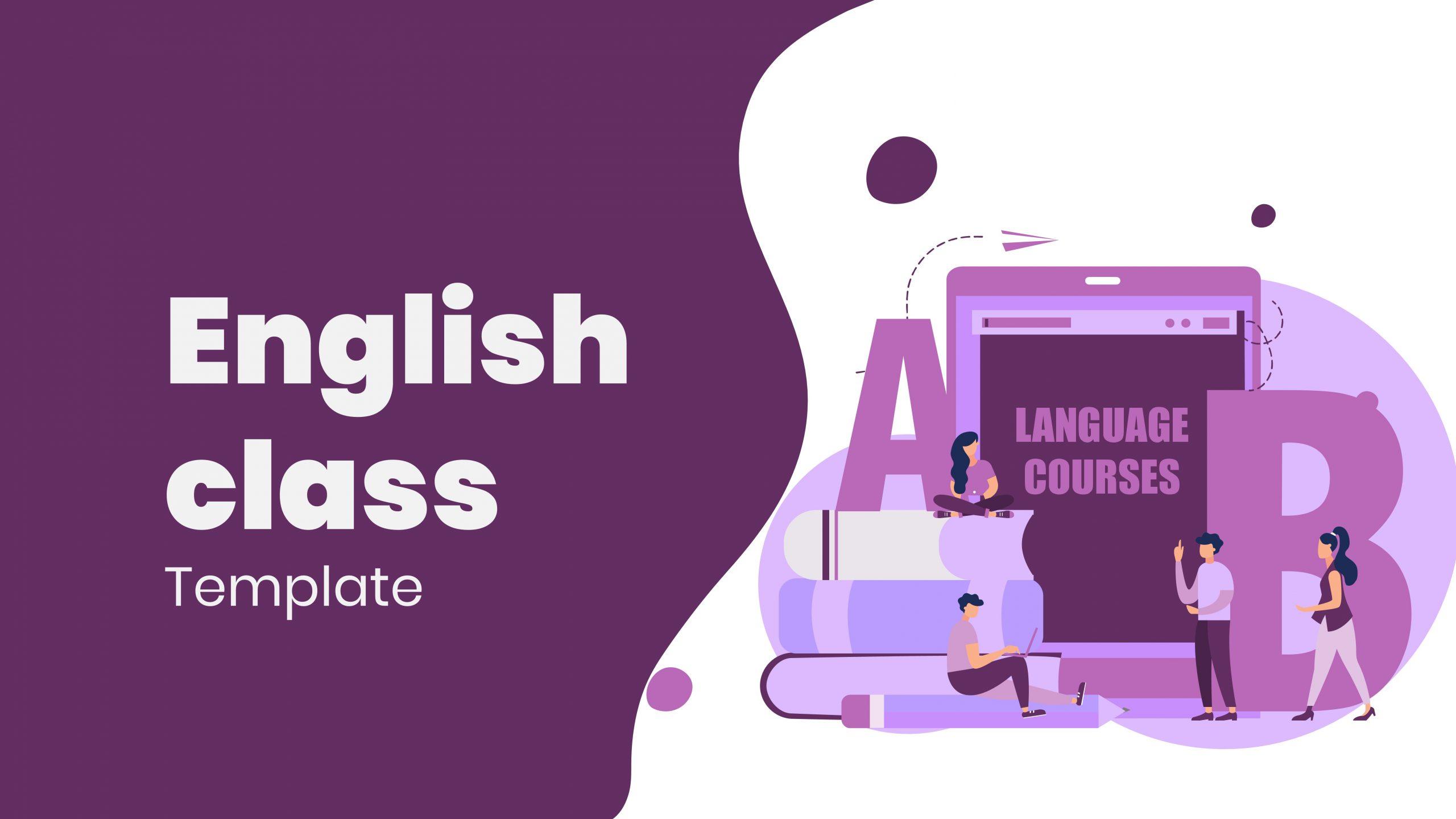 Free presentation template of English