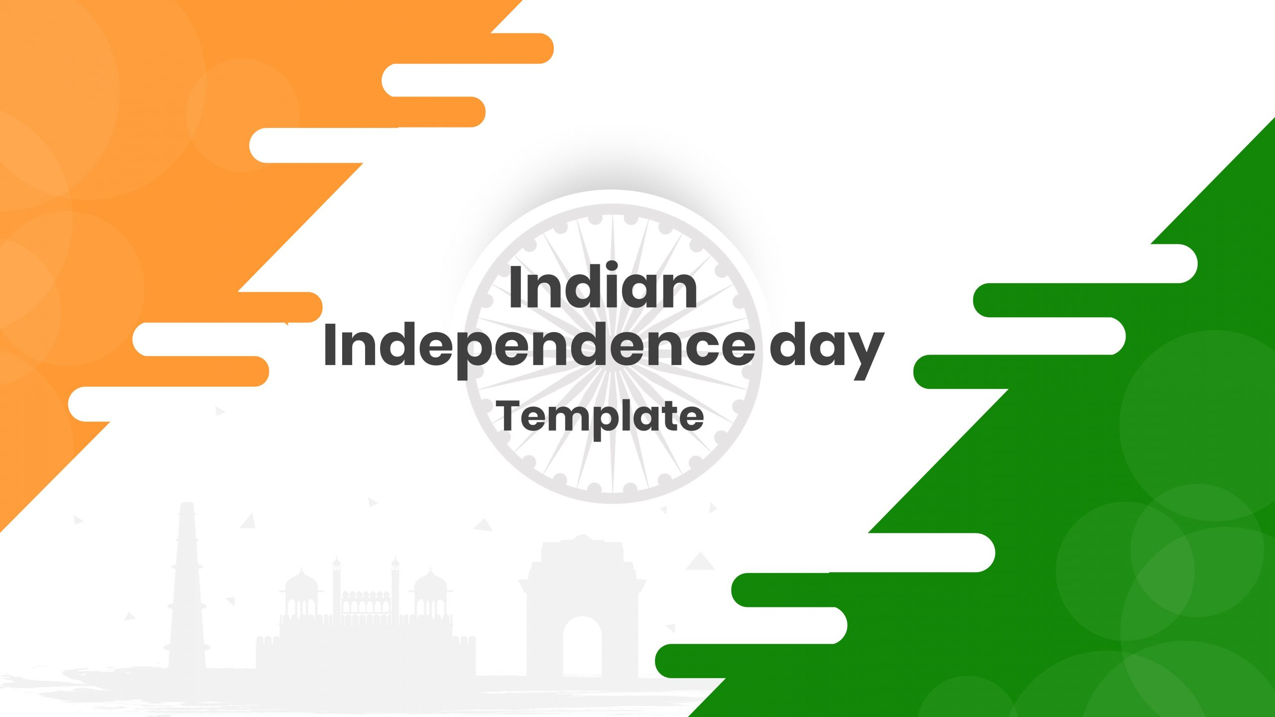 Indian Independence Day Template