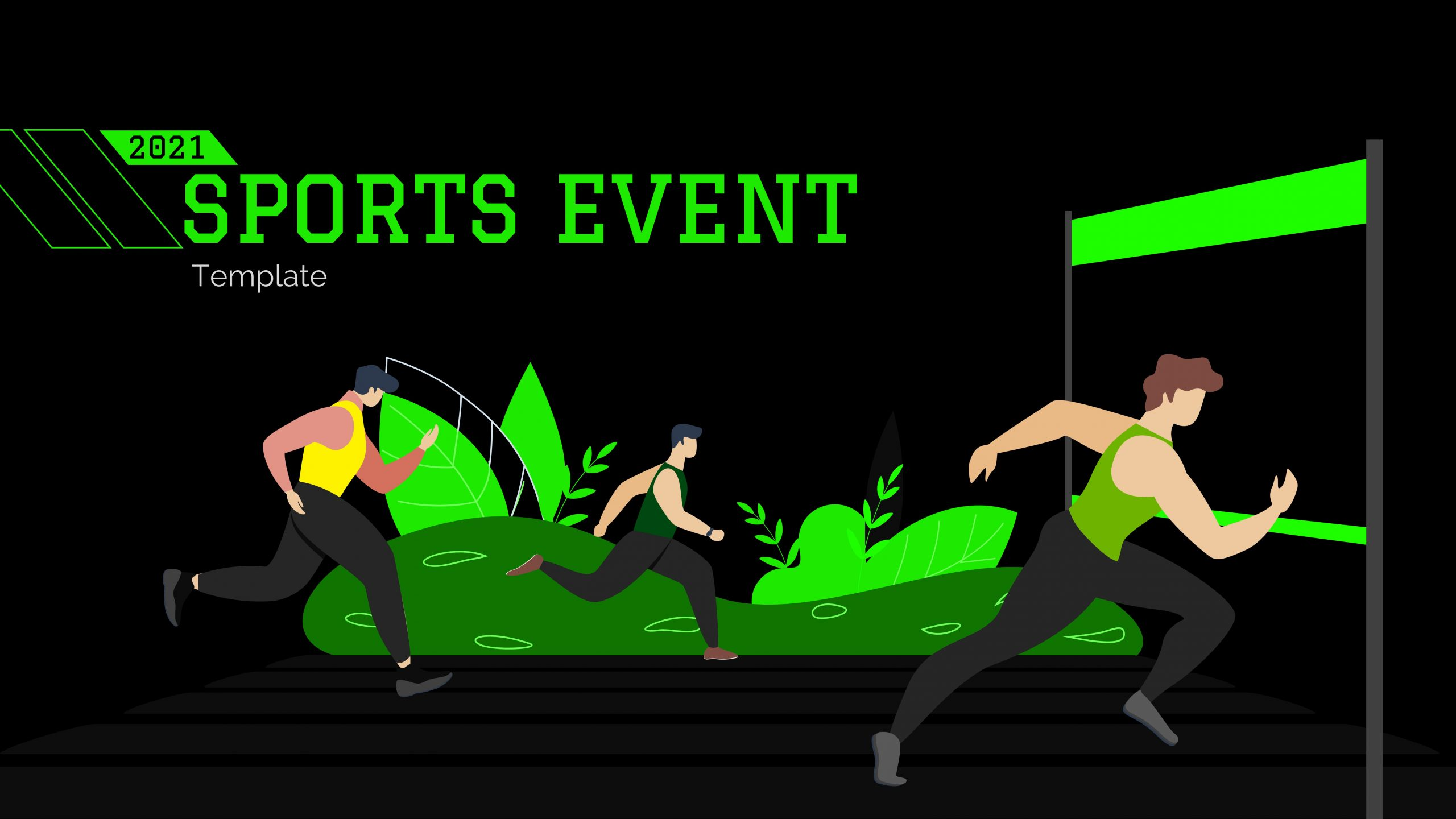 Free presentation template of Sports