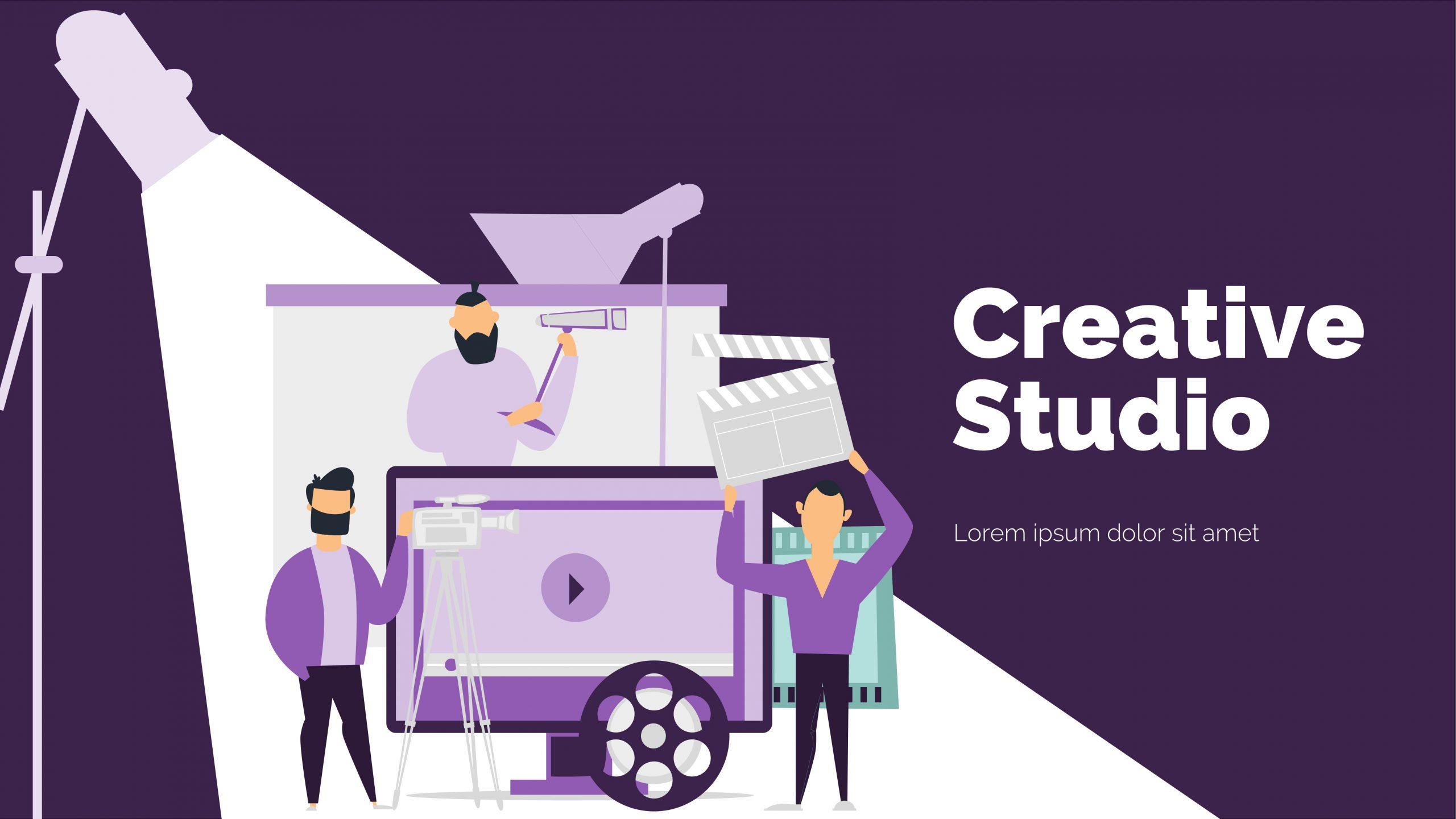 presentation template of Creative Studio