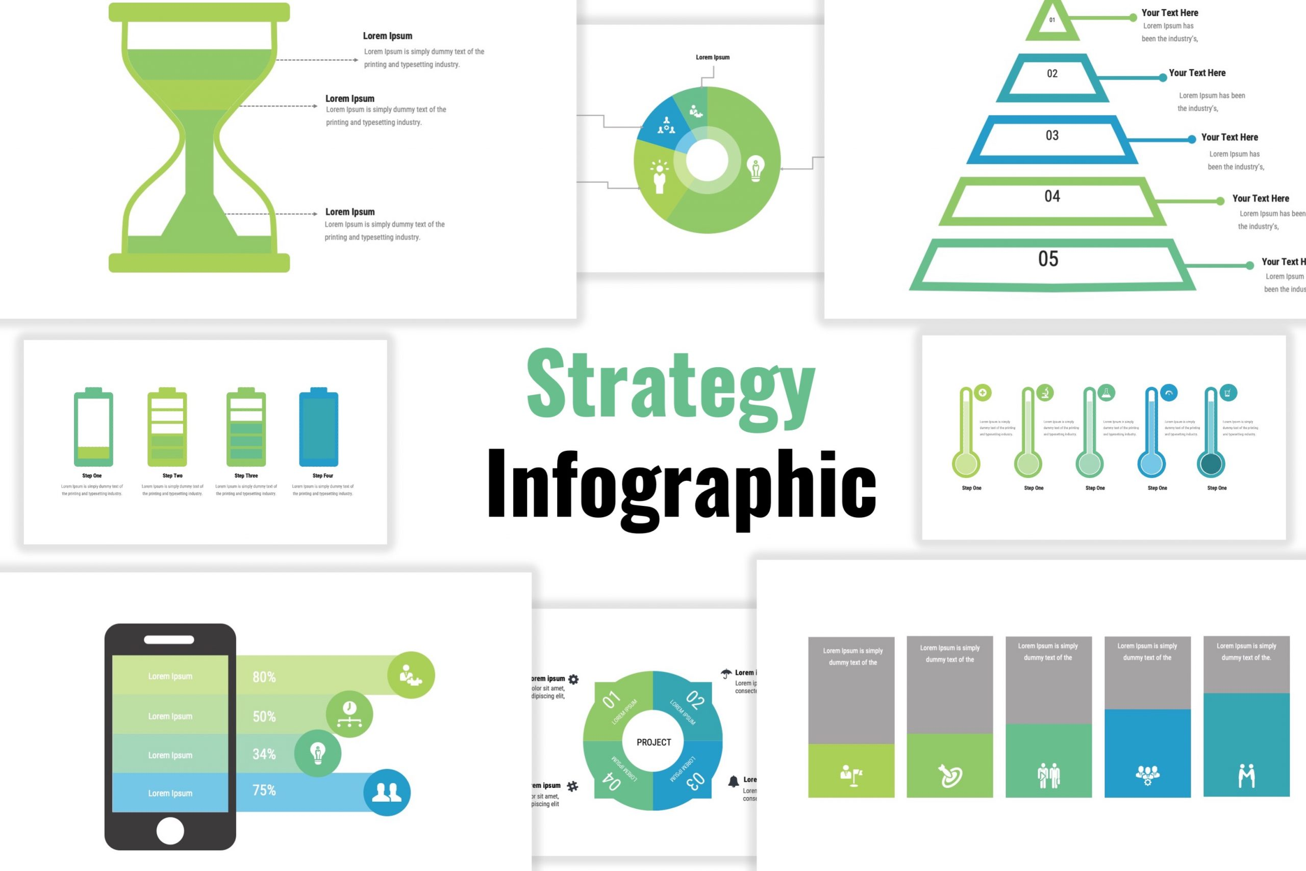 infographic template of strategy