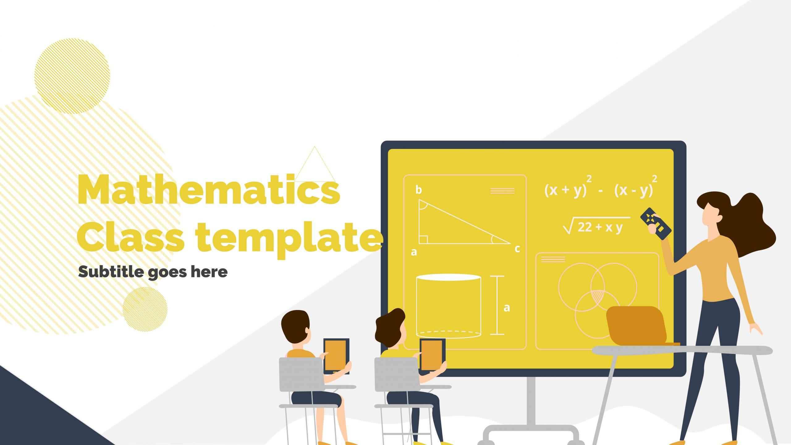 Free presentation template of Mathematics Class