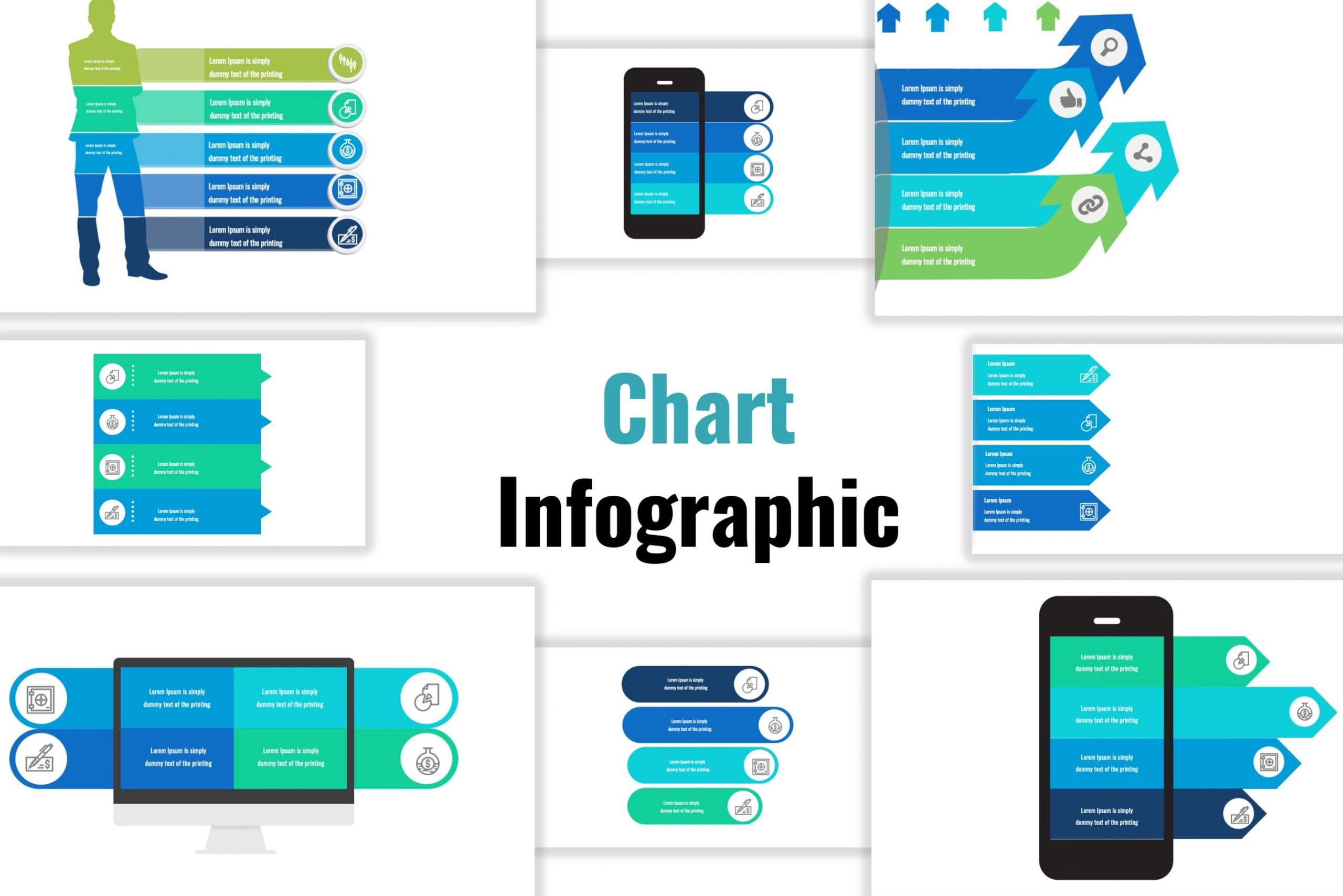 Free infographic template of chart