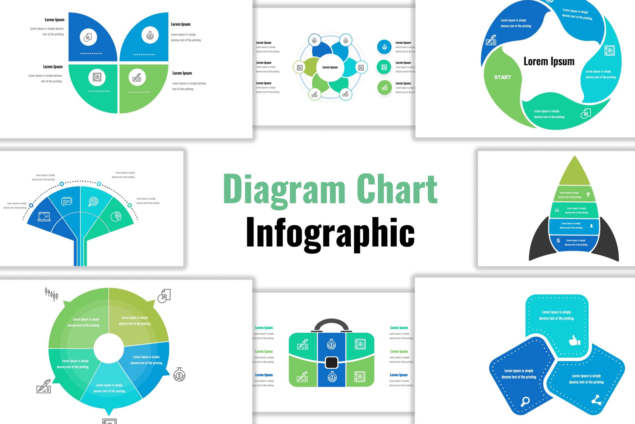 infographic template of Diagram Chart