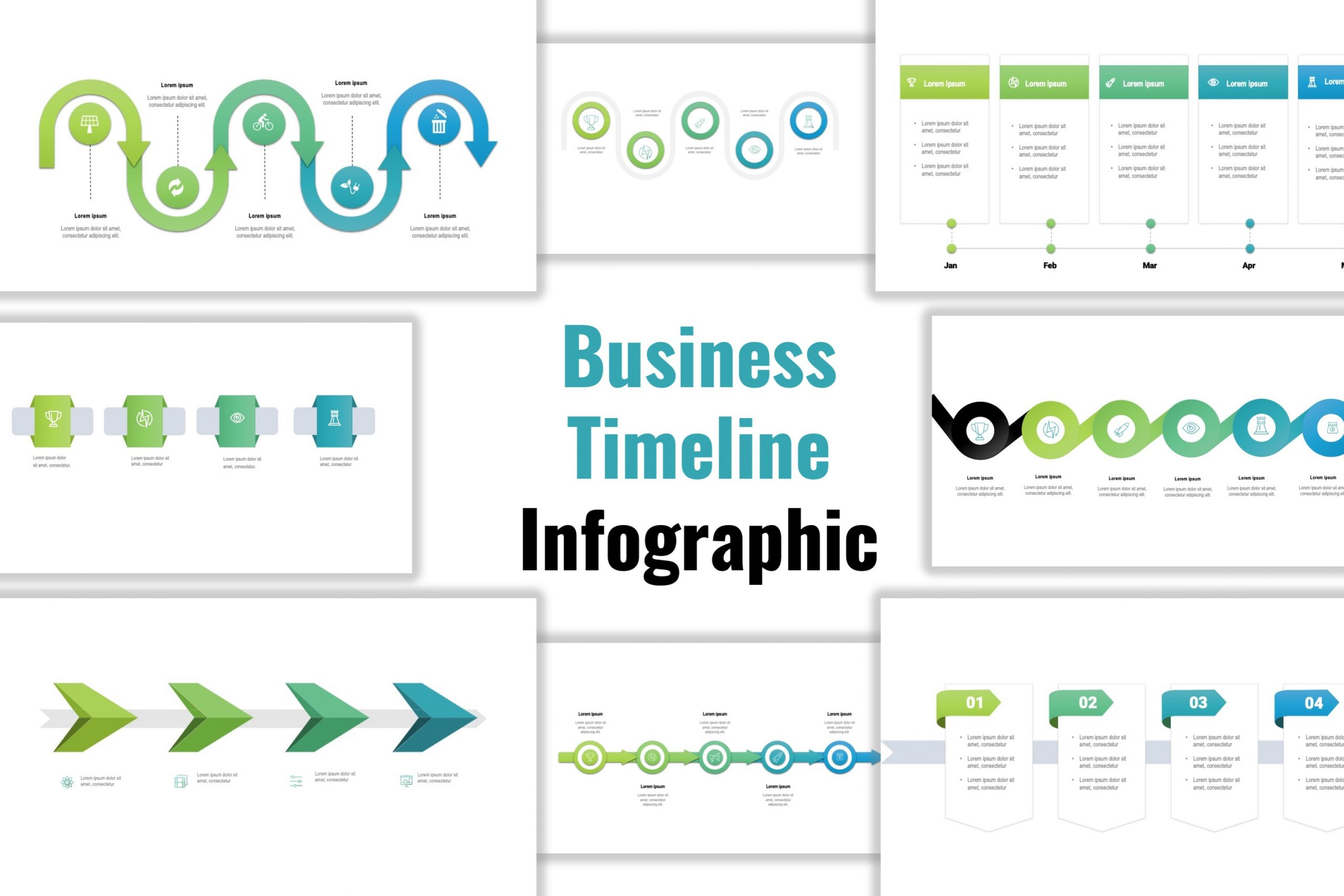 Business Timeline Infographic Template