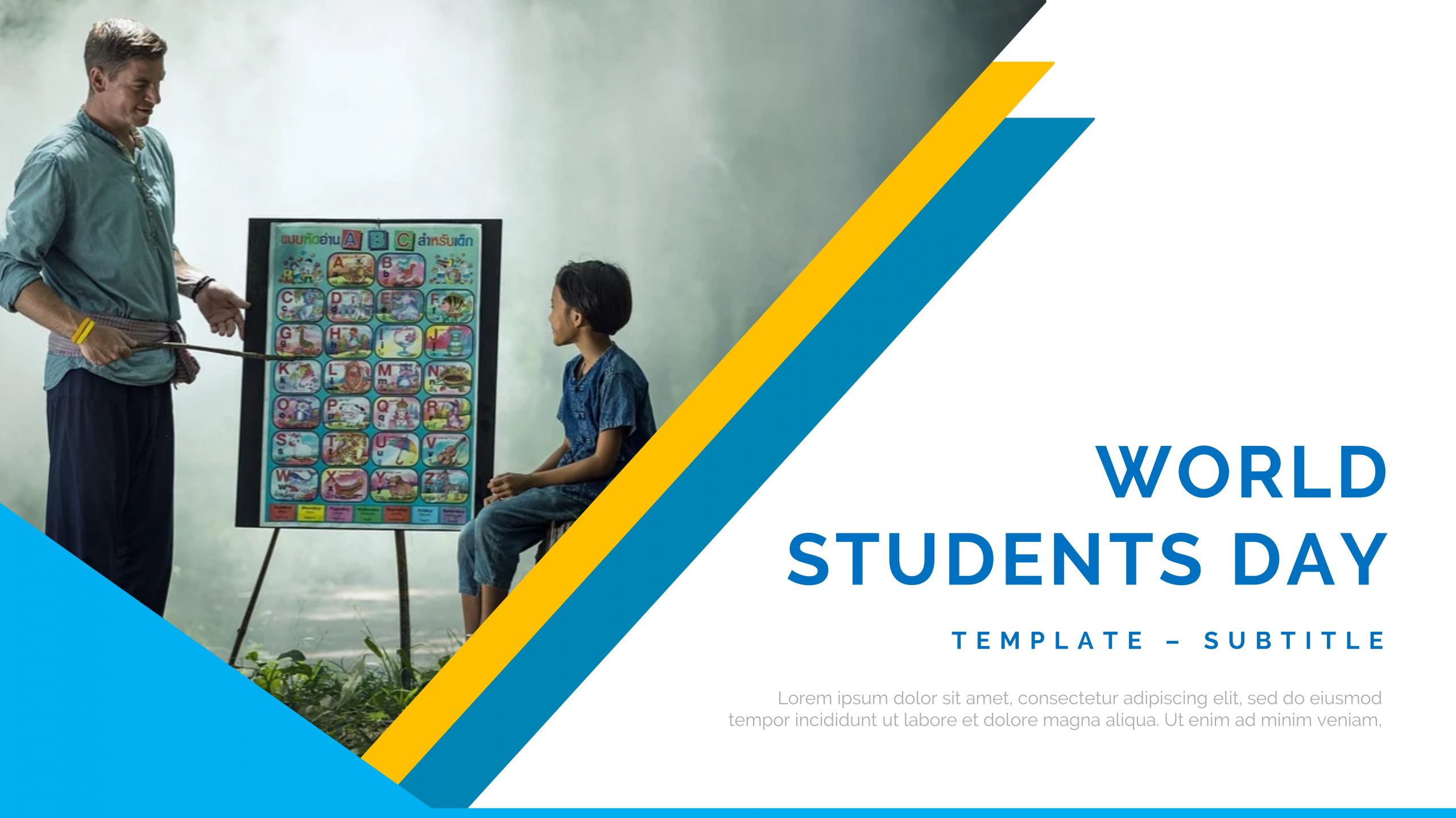 presentation template of World Students Day