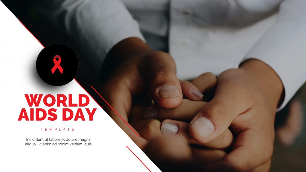 presentation template of World Aids Day