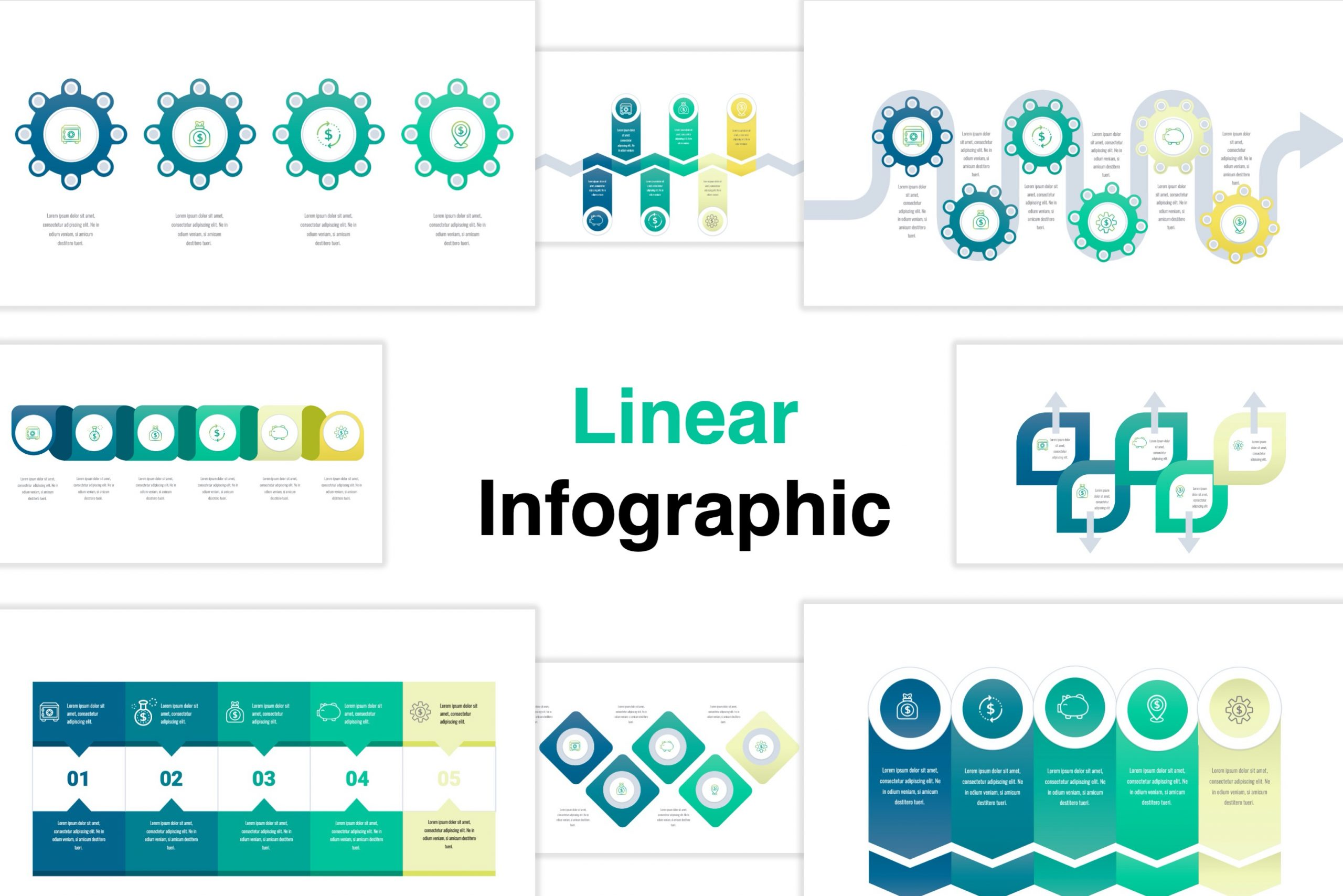 Linear Infographic Template