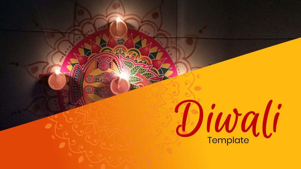 presentation template of Diwali
