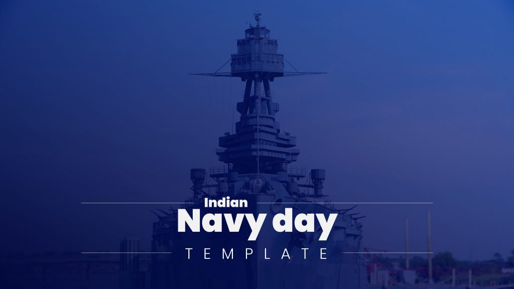 presentation template of Indian Navy Day