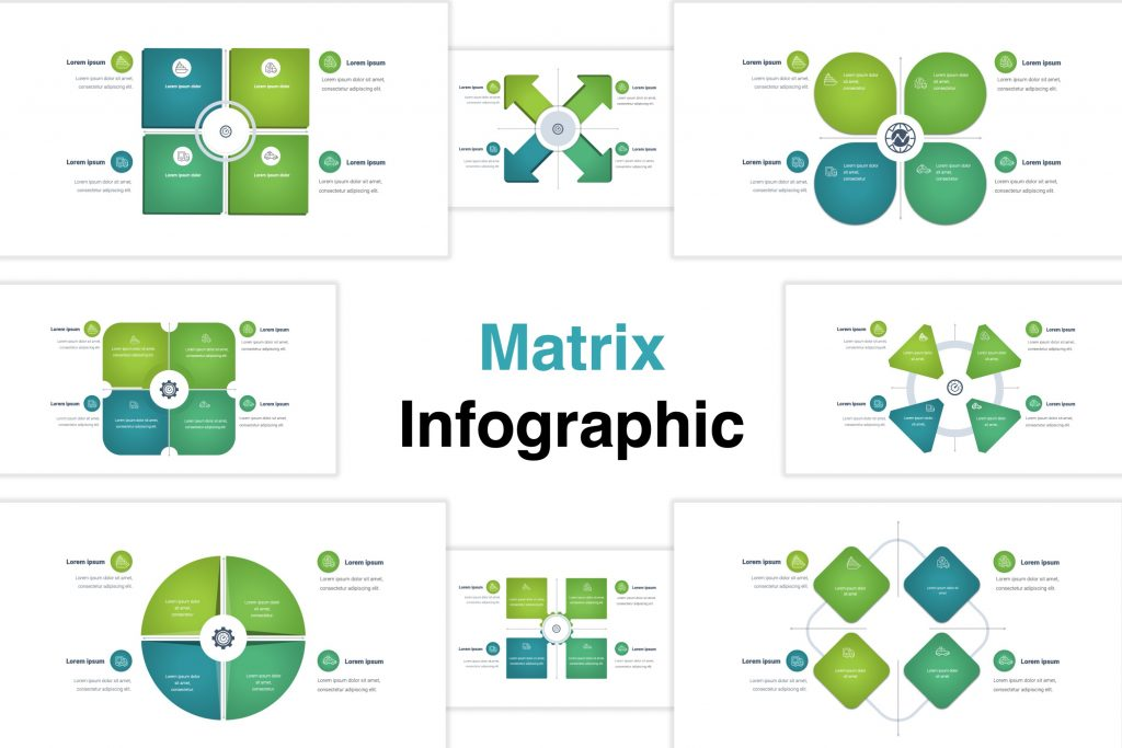 Free infographic template of Matrix